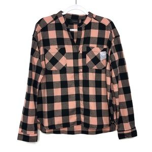 Scotch and Soda Pink and Black Buffalo Check Top
